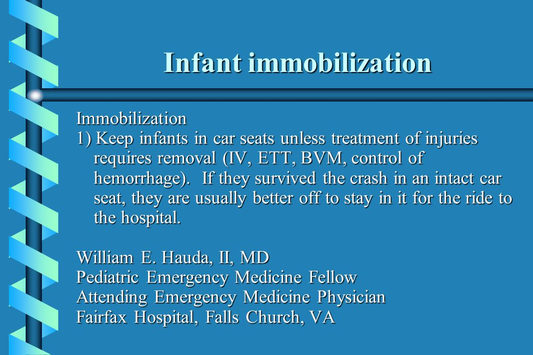 Infant immobilization
