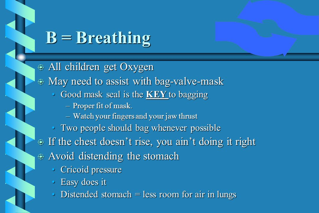 B = Breathing All children get Oxygen