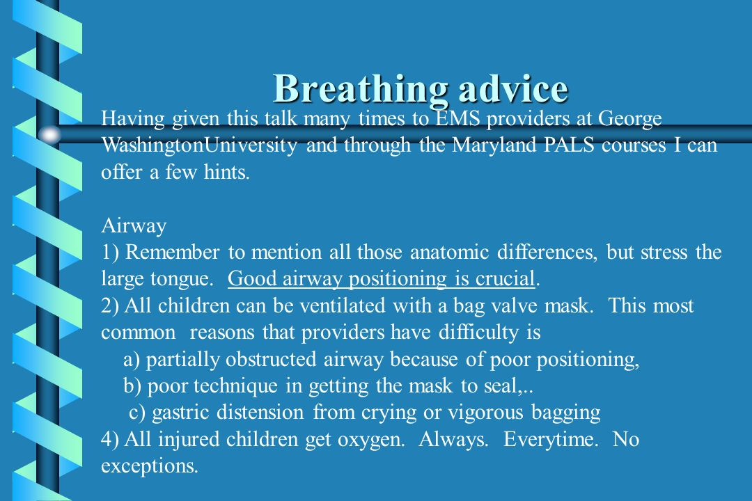 Breathing advice