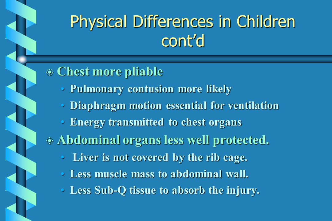 Physical Differences in Children cont'd