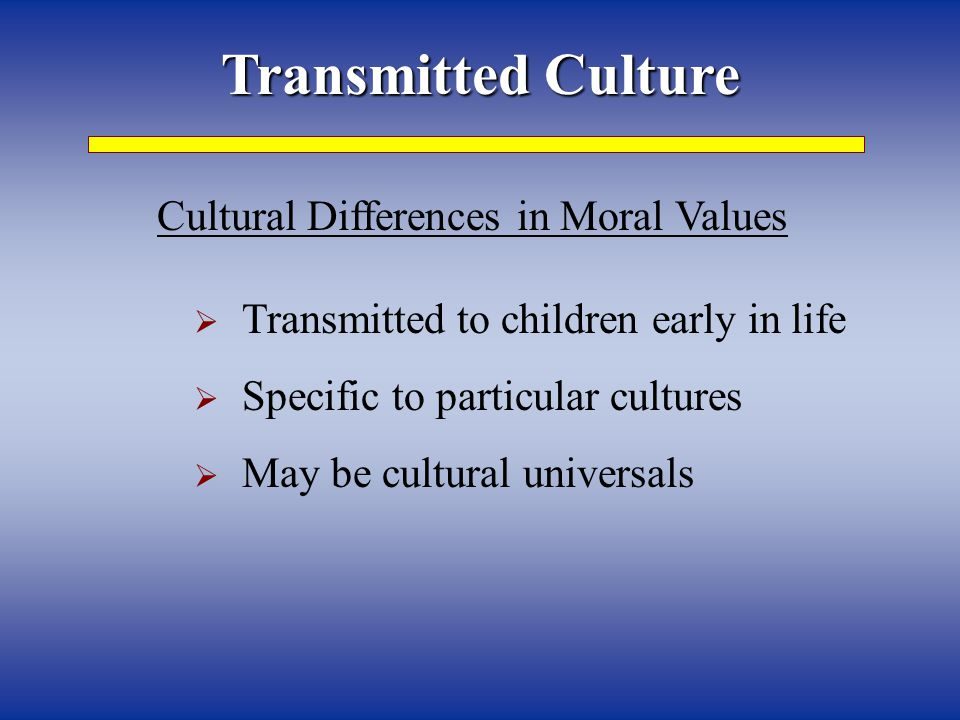 Cultural Differences in Moral Values