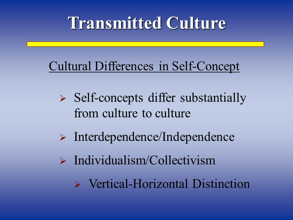 Cultural Differences in Self-Concept