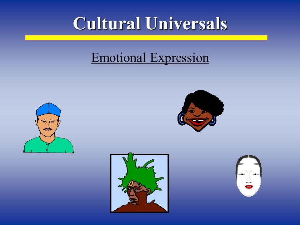 Cultural Universals Emotional Expression