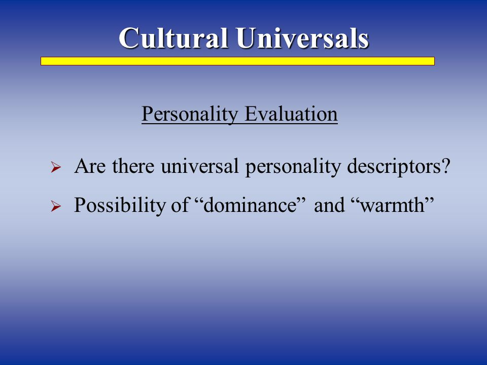 Personality Evaluation