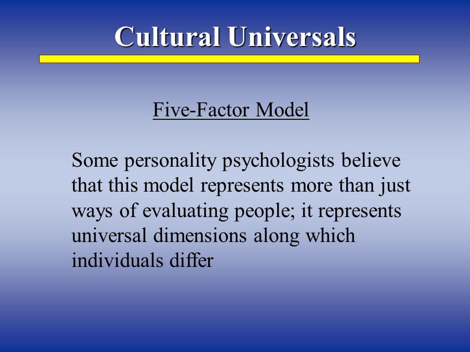 Cultural Universals Five-Factor Model