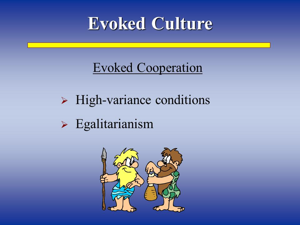 Evoked Culture Evoked Cooperation High-variance conditions