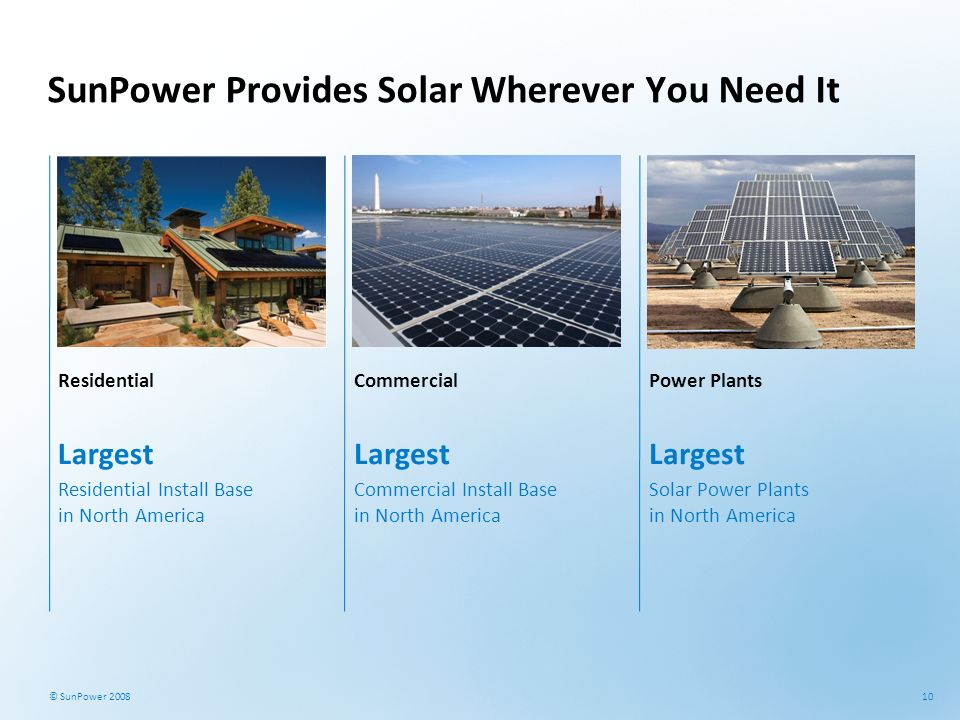 SunPower Provides Solar Wherever You Need It