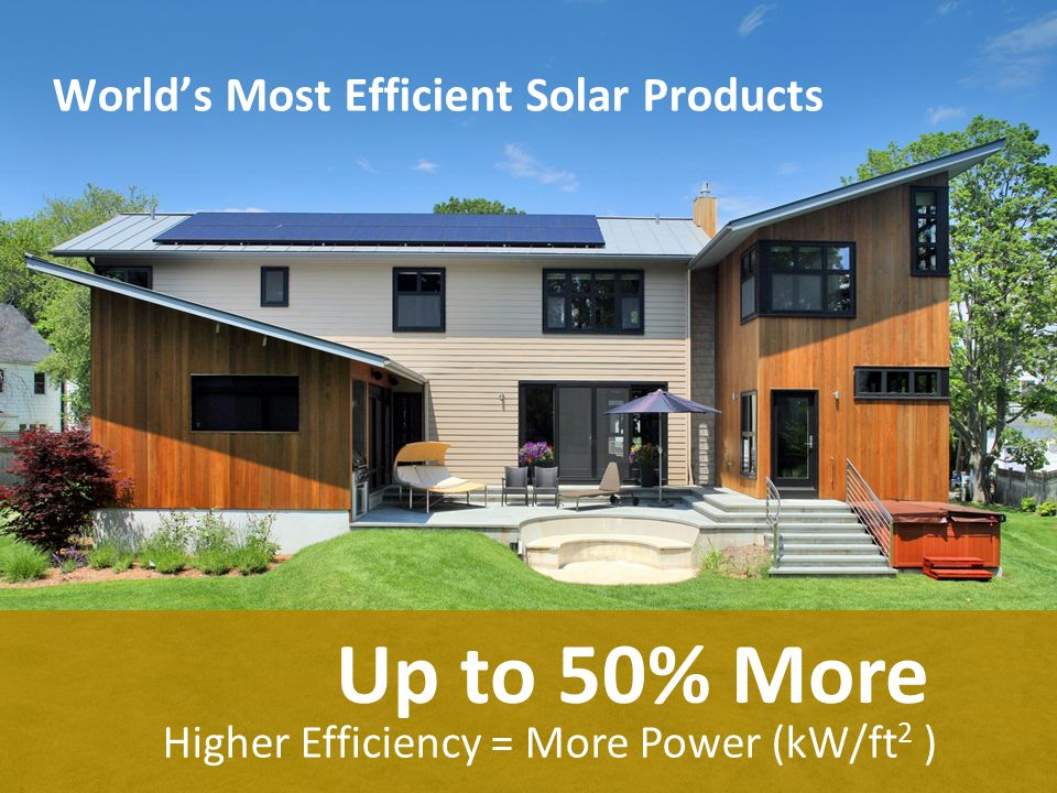 World's Most Efficient Solar Products