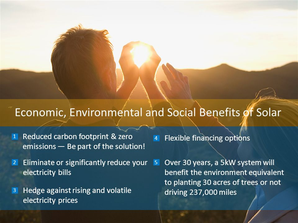 Economic, Environmental and Social Benefits of Solar