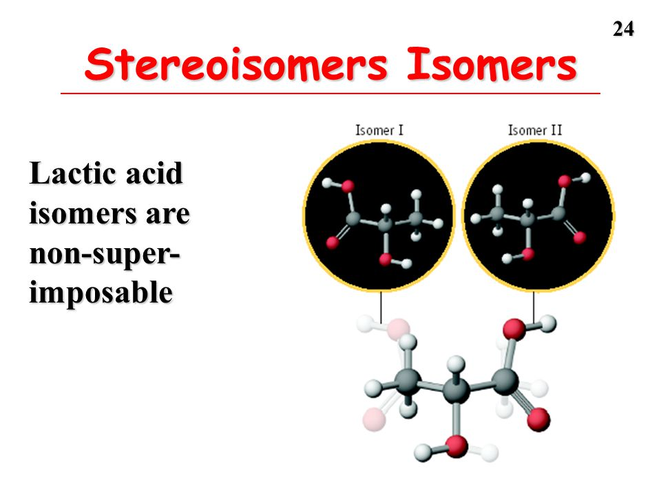 Stereoisomers Isomers