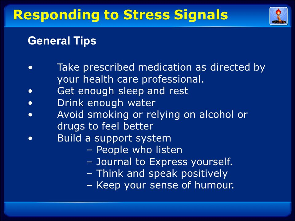 Responding to Stress Signals