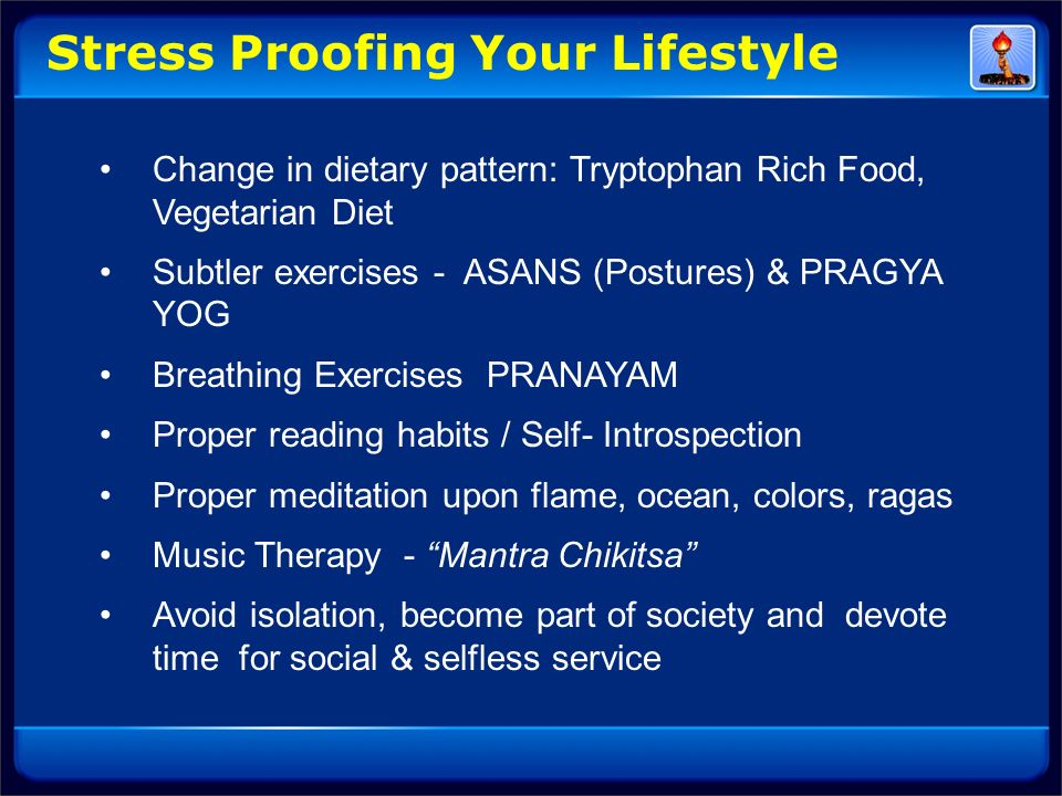 Stress Proofing Your Lifestyle