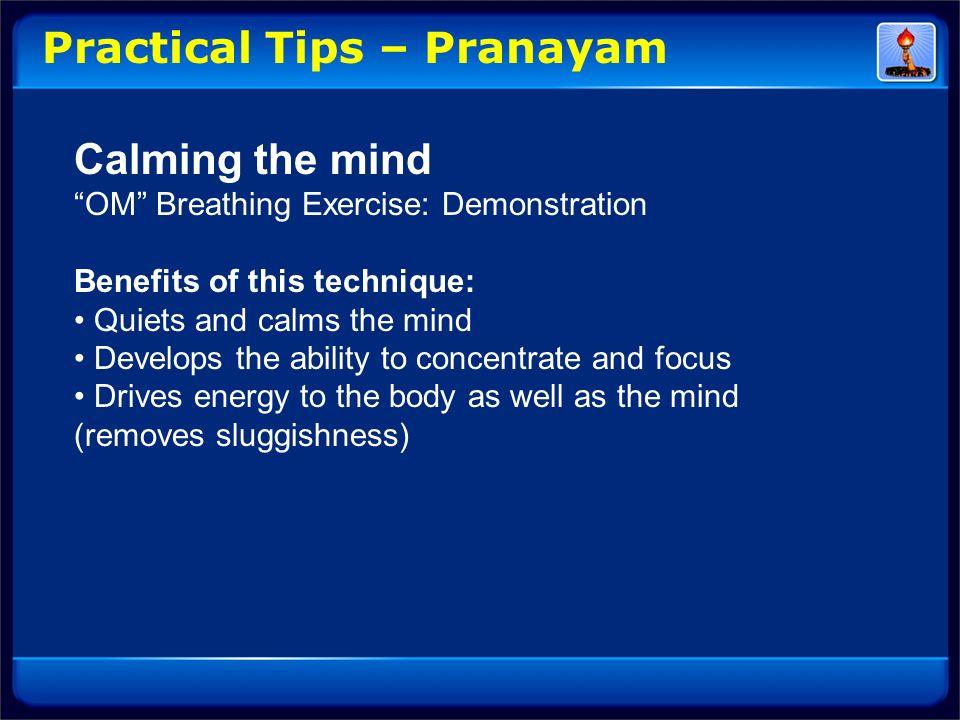 Practical Tips – Pranayam