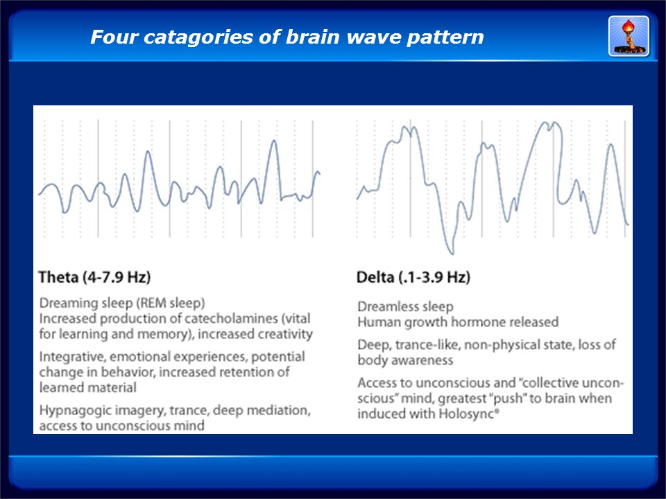 Four catagories of brain wave pattern