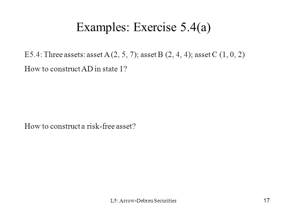 Examples: Exercise 5.4(a)