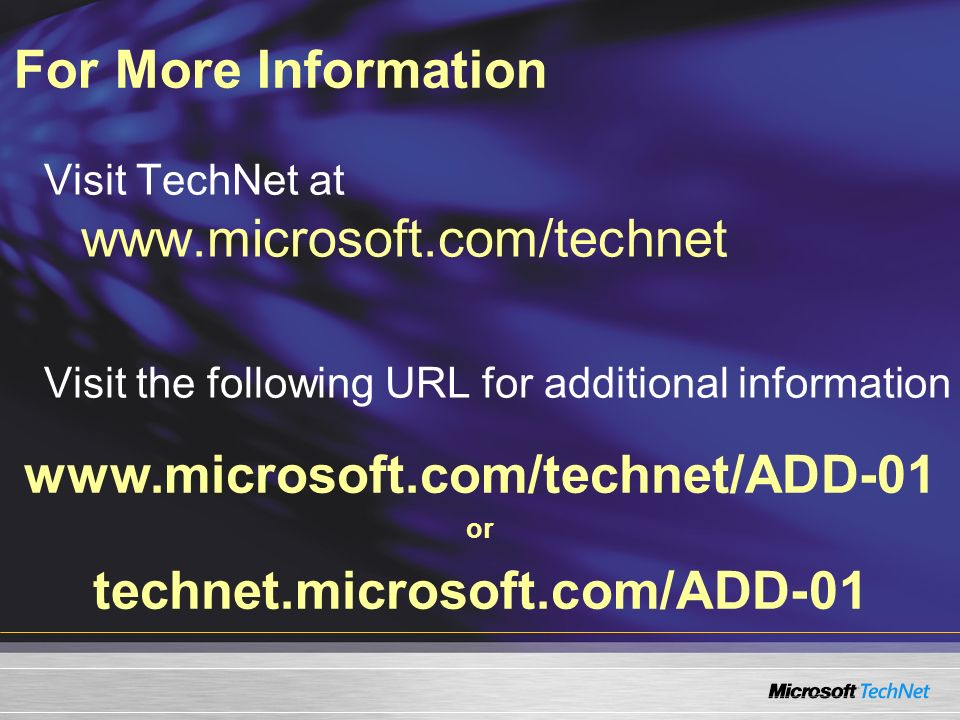 technet.microsoft.com/ADD-01