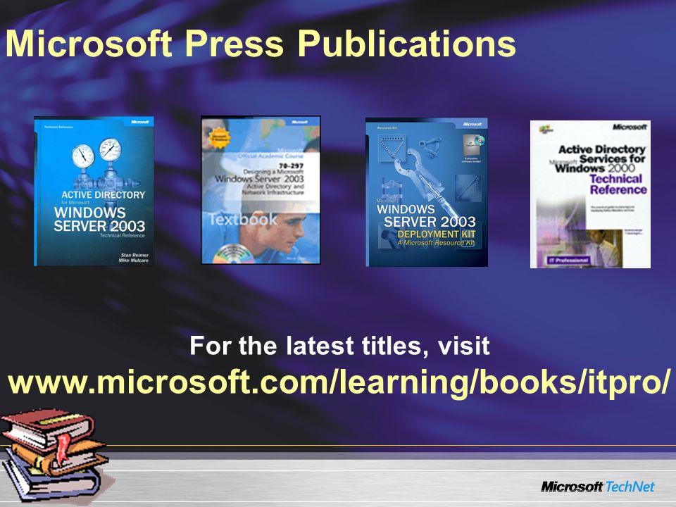 Microsoft Press Publications