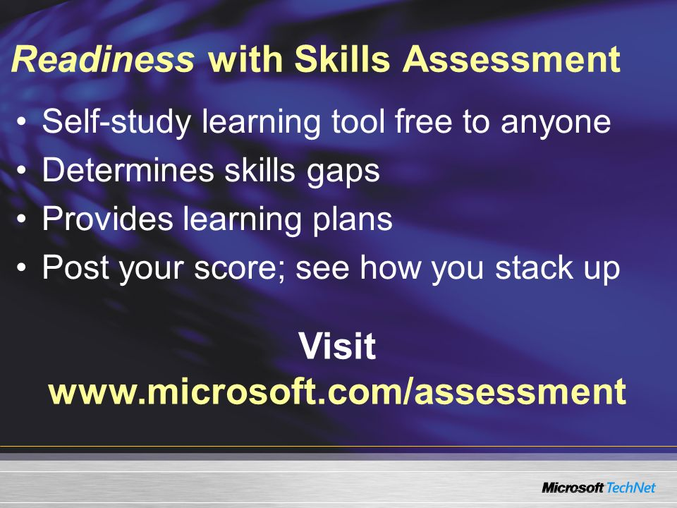 Readiness with Skills Assessment