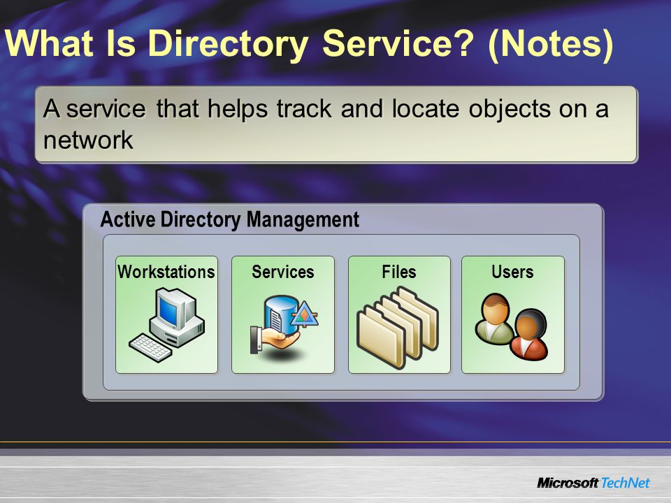 What Is Directory Service (Notes)