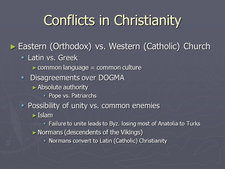 Conflicts in Christianity