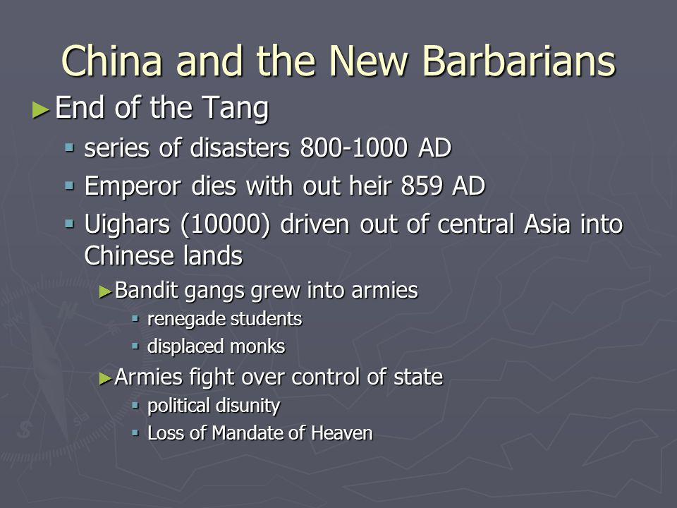 China and the New Barbarians