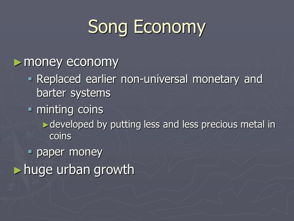 Song Economy money economy huge urban growth