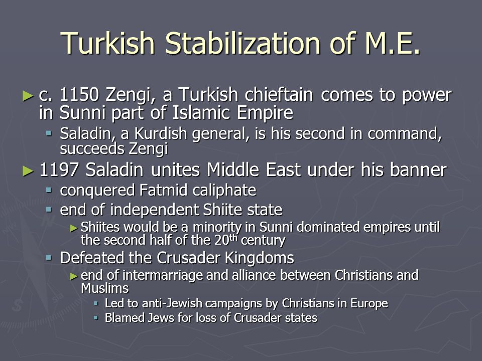 Turkish Stabilization of M.E.