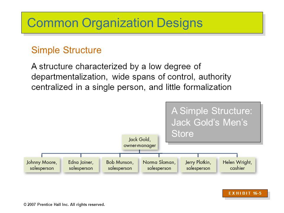 Common Organization Designs (cont'd)