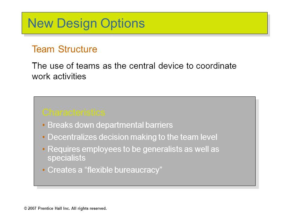 New Design Options (cont'd)