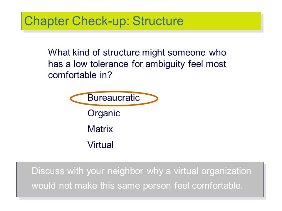 Chapter Check-up: Structure