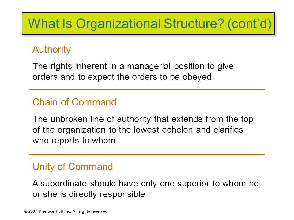 What Is Organizational Structure (cont'd)