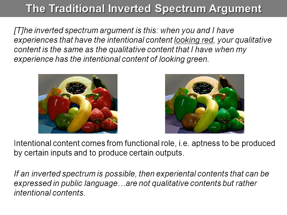 The Traditional Inverted Spectrum Argument