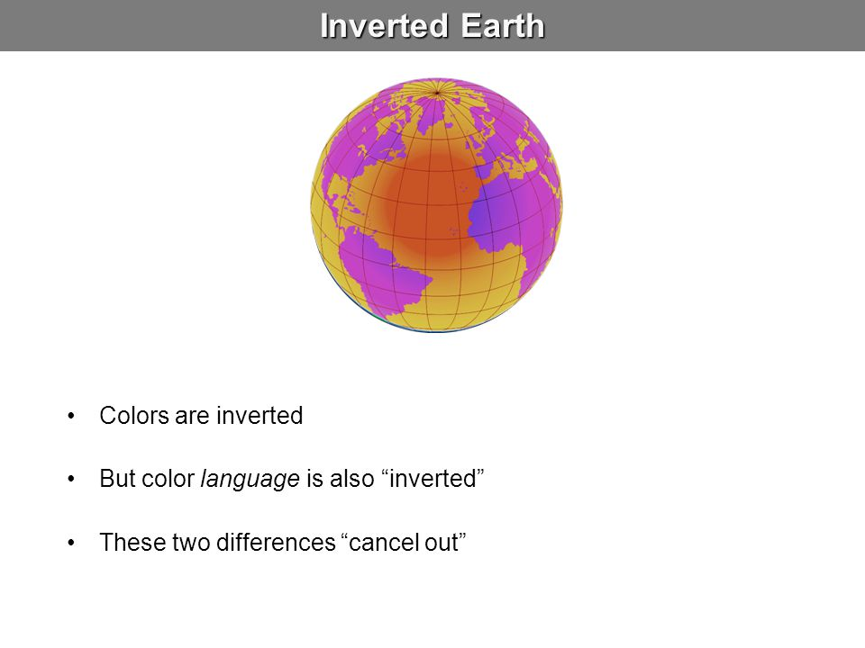 Inverted Earth Colors are inverted