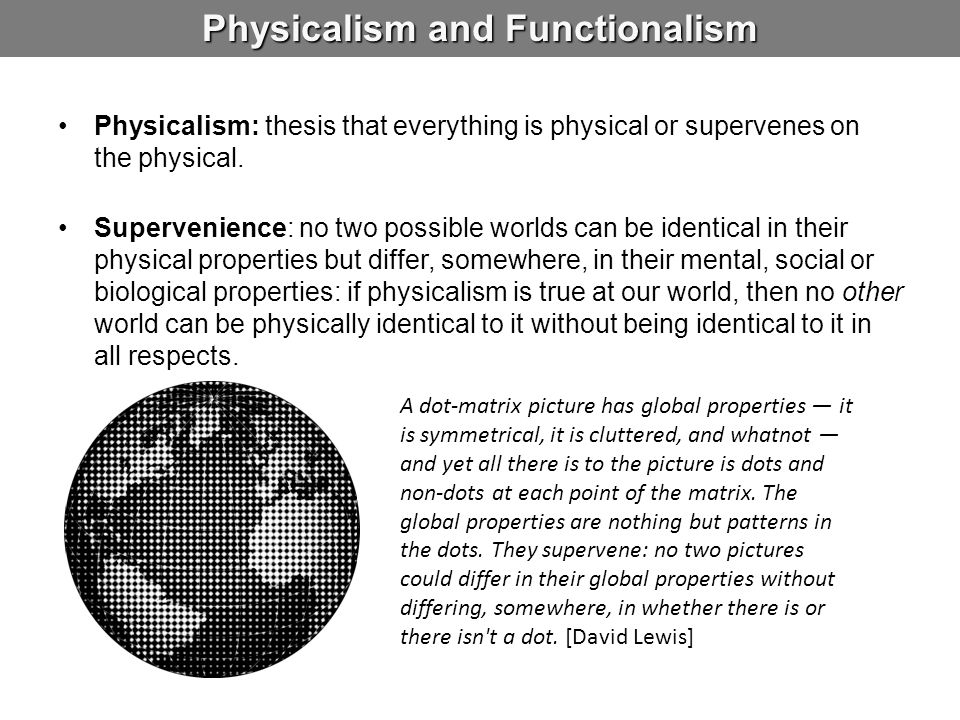 Physicalism and Functionalism