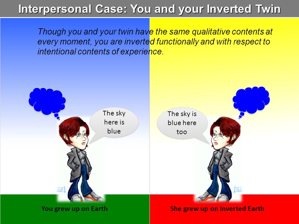 Interpersonal Case: You and your Inverted Twin