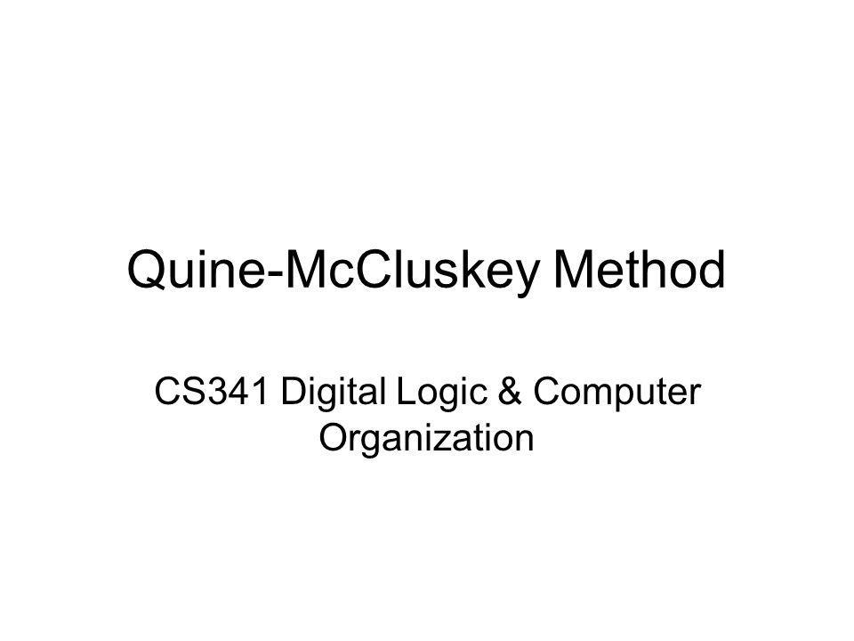 Quine-McCluskey Method