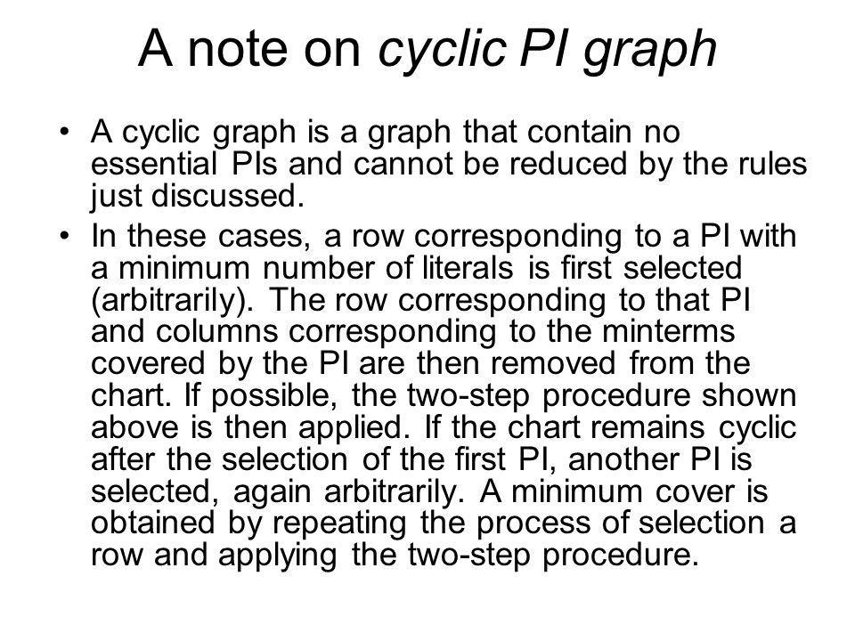 A note on cyclic PI graph