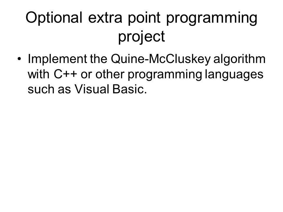 Optional extra point programming project