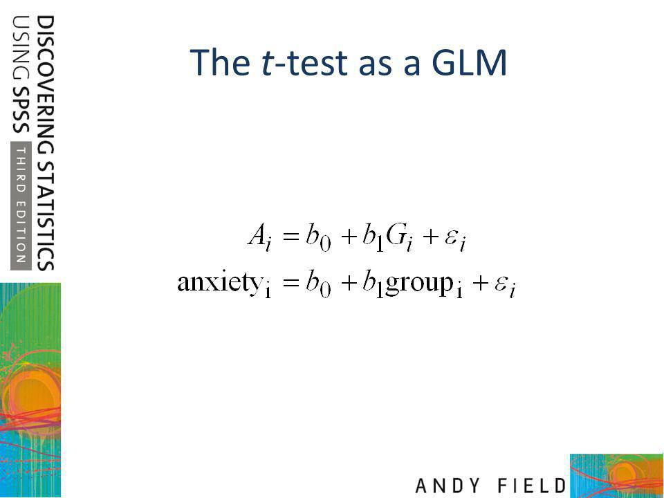 The t-test as a GLM
