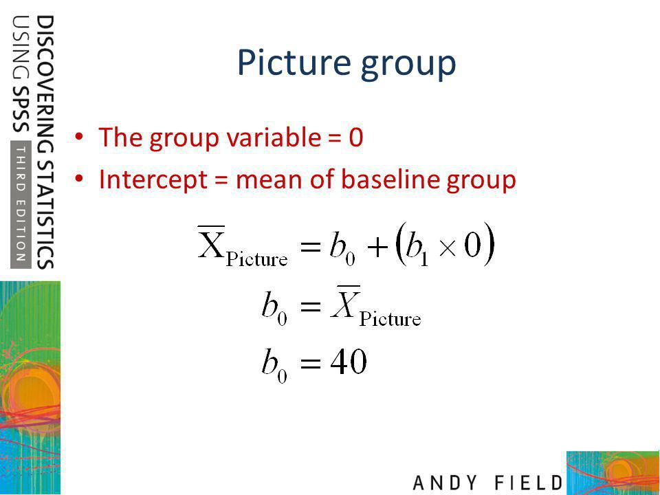 Picture group The group variable = 0