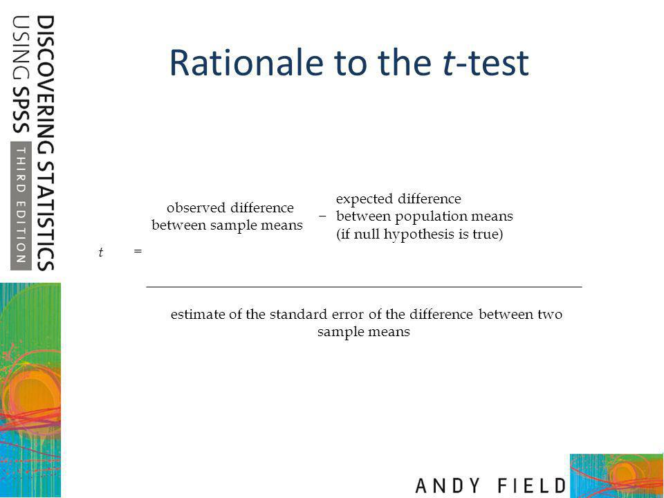 Rationale to the t-test