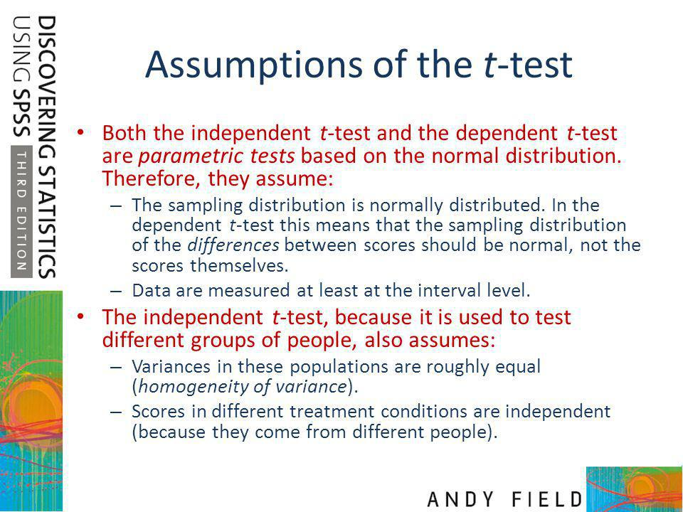Assumptions of the t-test