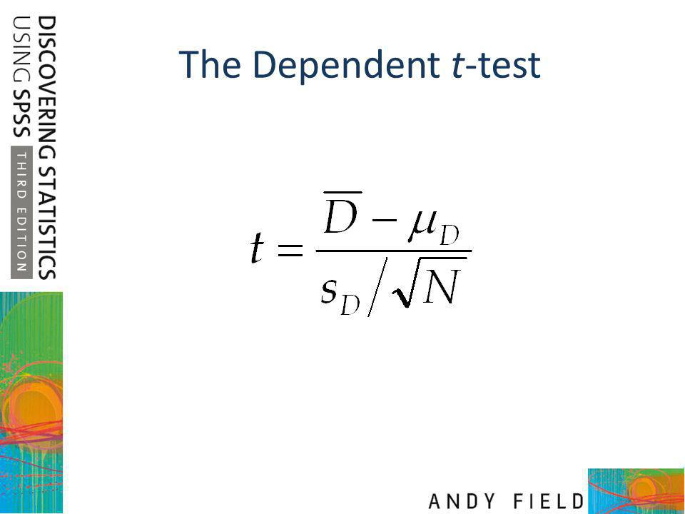The Dependent t-test