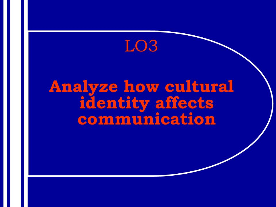 Analyze how cultural identity affects communication