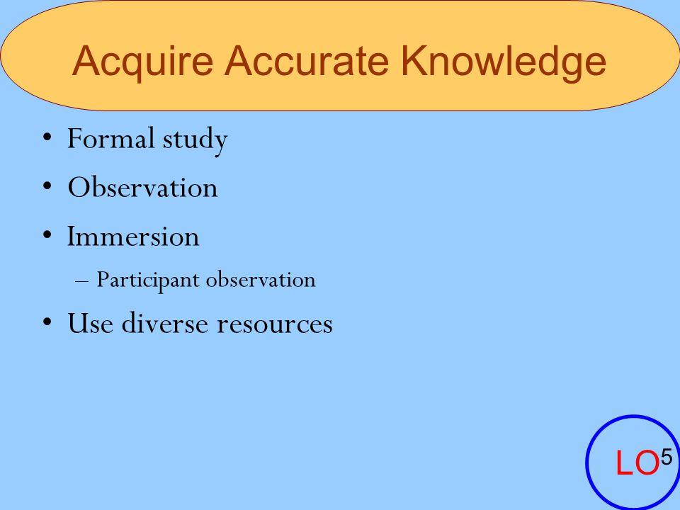Acquire Accurate Knowledge