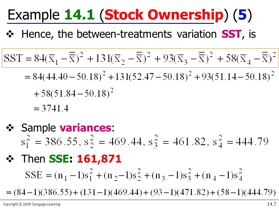 Example 14.1 (Stock Ownership) (5)