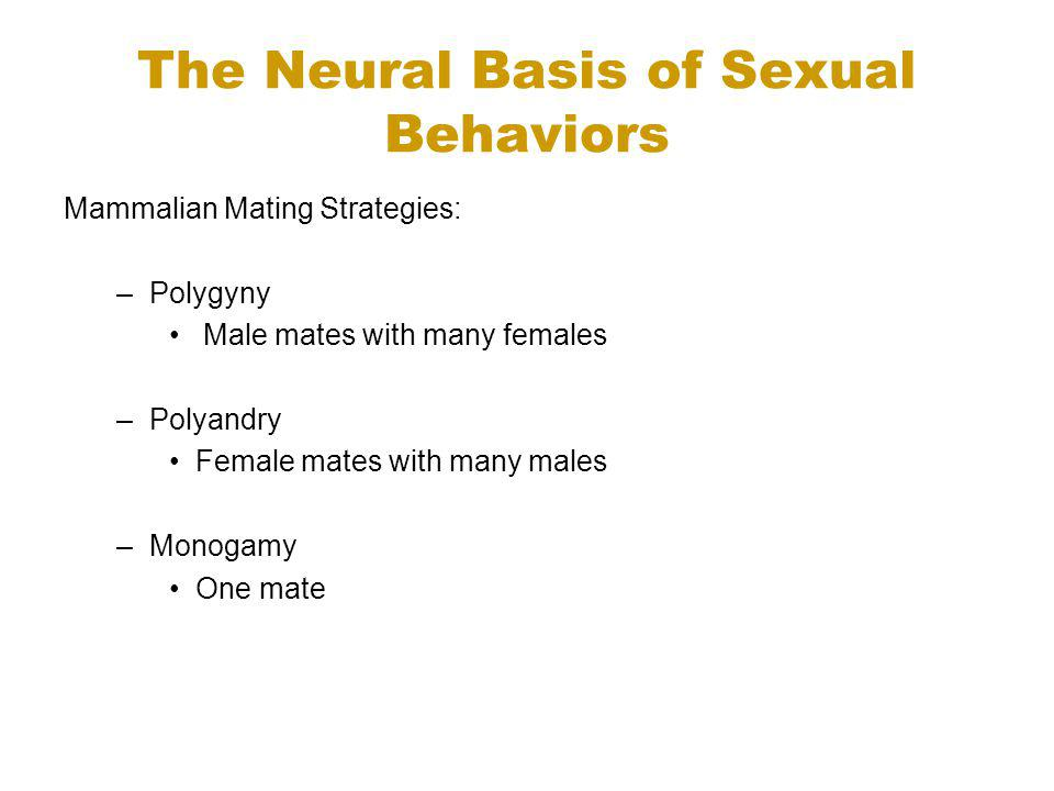 The Neural Basis of Sexual Behaviors
