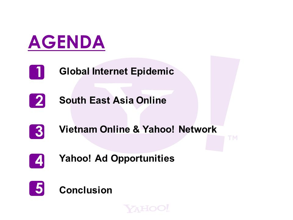 AGENDA Global Internet Epidemic South East Asia Online