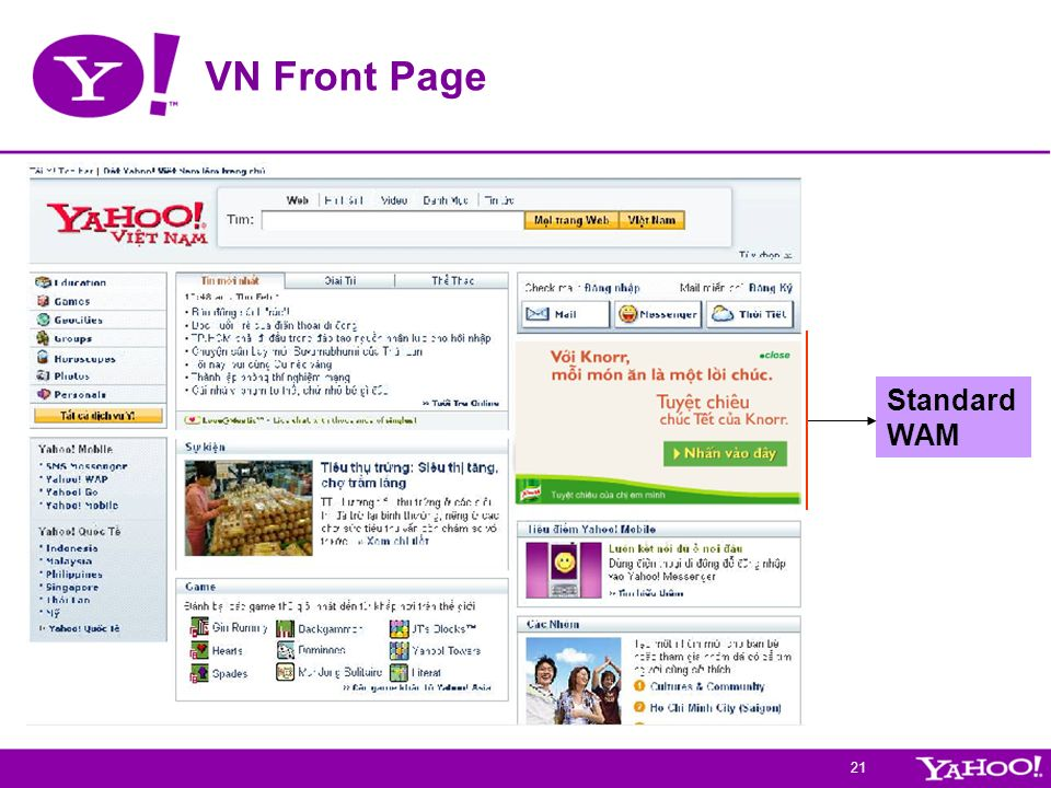 VN Front Page Standard WAM