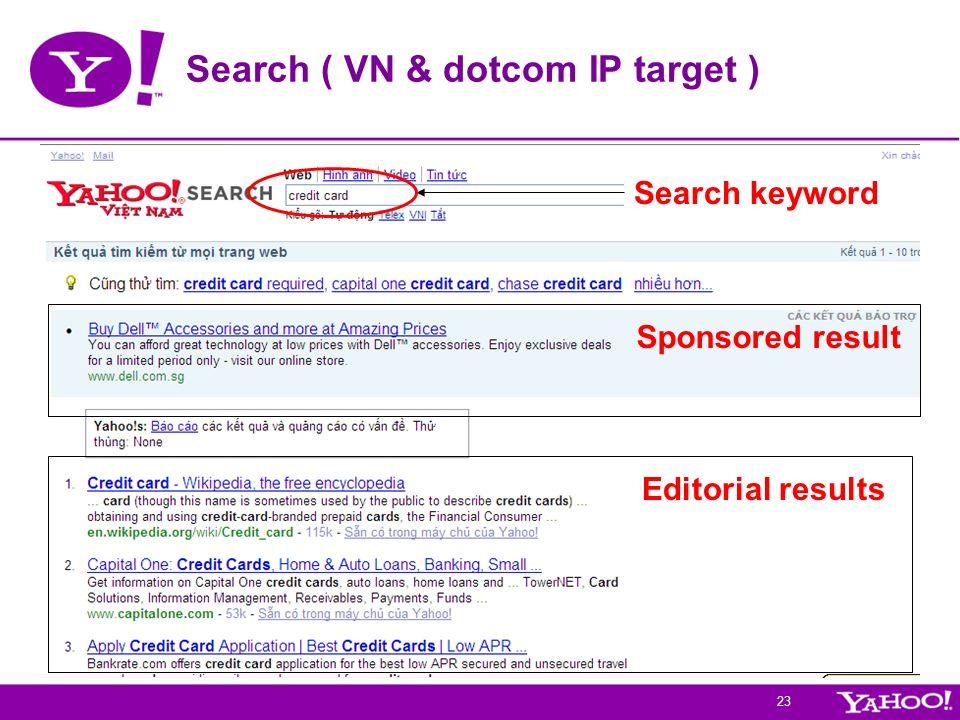 Search ( VN & dotcom IP target )